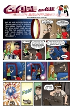 Gabe and Allie in Race Through Time, Episode 6, page 1