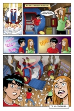 Gabe and Allie in Race Through Time, Episode 6, page 6